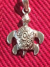 925 Sterling Silver BABY SEA TURTLE CHARM NEW Pendant Ocean Peter Stone W/ Chain