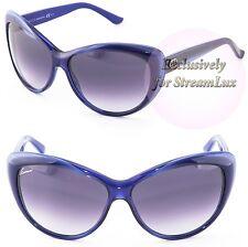 GUCCI Cat Eye Woment Sunglasses GG 3510S WOIDG Blue Violet Purple Gradient
