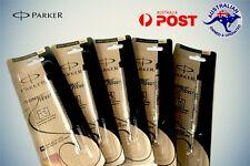 5 x PARKER REFILL/REFILLS BLACK QUINK BALL PEN Medium Nib 1mm NEW Jotter Vector