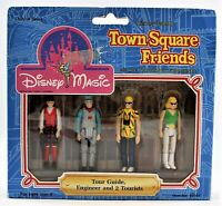 Disney Magic Town Square Friends Tour Guide Engineer And 2 Tourists Figures