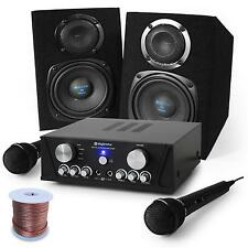PACK DJ HIFI STEREO COMPLET SYSTEME KARAOKE PA AMPLI 2 X MICRO ENCEINTES 400W