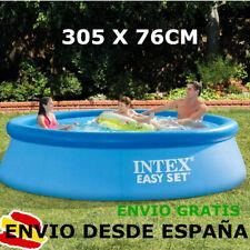 INTEX Piscina hinchable 305 x 76 cm Familiar desmontable