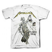 METALLICA T-Shirt Justice For All WHITE New Authentic Rock Metal S-3XL