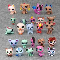 24pcs/pack Littlest Pet Shop Lot Animals Hasbro LPS Figure Toy Dog Horse Bird
