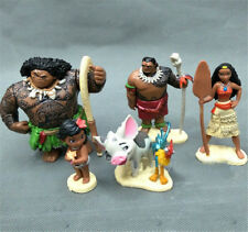 6 Pcs Kids Gift Moana Action Figures Doll Kids Cake Topper Decor Set Toy set