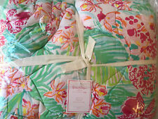 Pottery Barn Teen Lilly Pulitzer Orchid Reversible Quilt Twin/Twin XL Multi NEW