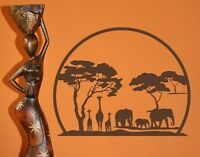 African Panorama - highest quality wall decal sticker