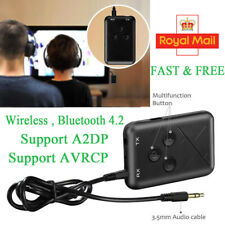 2in1 Bluetooth 4.2 Transmitter Receiver Audio A2DP AVRCP 3.5mm Stereo Music AUX