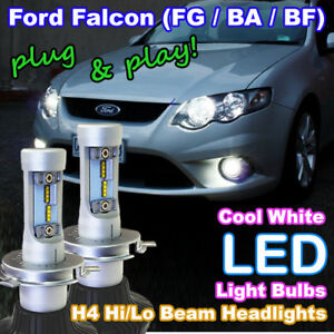 BA BF FG Ford Falcon XR6 LED Headlight Upgrade Kit (H4 Hi/Lo White LED Bulbs)