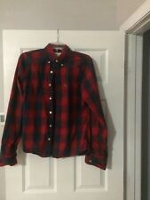 Mens ABERCROMBIE & FITCH Plaid Shirt Long Sleeve Button Up Muscle Plaid Size S