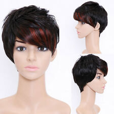 Fashion Ladies Wig Natrual Black Short Curly Wavy Heat Resistant Hair Wigs Women