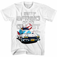 Ghostbusters I Ain't Afraid of No Ghost Men's T Shirt Ectomobile ECTO-1 Car TV