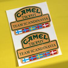 Camel equipo de trofeo Escandinavia 4X4 Off Road Pegatinas Calcomanías Land Rover Defender