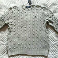 Bnwt Polo Ralph Lauren Round Neck Cable Knit Jumper chest 46in RRP £125