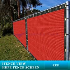 Ifenceview 4'x1'-4'x100' Red UV Fence Privacy Screen Mesh Fabric Garden Balcony