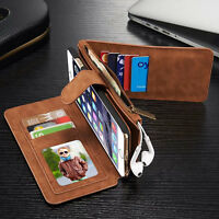 For Samsung Galaxy S7 Edge S8 S9 Plus Leather Wallet Magnetic Phone Case Cover