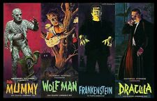 Aurora Monster Kits Frankenstein,The Mummy,Dracula & Wolfman Sticker, Magnet