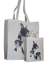 Boston Terrier Dog Adult & Child Shopping or Dog Treats Packed Lunch Tote Bag