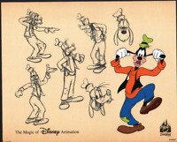 WALT DISNEY GOOFY COLOR MODEL SHEET HAND PAINTED CEL ANIMATION LIMITED