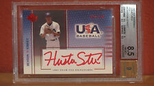 2003 USA Baseball Huston Street Red Autograph Card BGS 8.5 Auto 9.