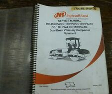 Ingersoll Rand Dd138hfa Vibratory Dual Drum Compactor Shop Service Repair Manual