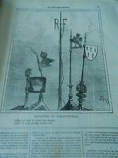 Caricature 1872 - Girouettes et Paratonnerres Le jouet des orages