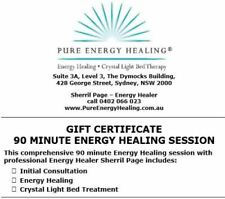 90 Minute Energy Healing + Consultation + Crystal Bed Session GIFT CERTIFICATE