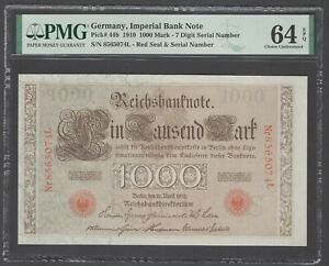 Germany- Imperial Bank Note 1000 Mark 1910 P44b Uncirculated Grade 64