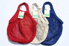 Confezione di 3 BOULEVARD stringa shopping bag, riciclati cotone grezzo, MANICI CORTI