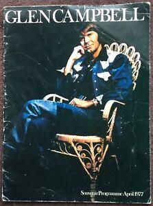 Glen Campbell April 1977 UK tour programme / program