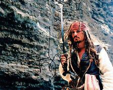 Johnny DEPP Signed Autograph 10x8 Pirates of the Caribbean Photo F AFTAL COA