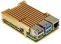 Aluminium Heatsink Case for Raspberry Pi 4, Gold - PIMORONI