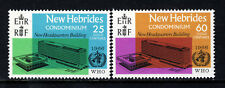 NEW HEBRIDES CON. QE II 1966 W.H.O. Headquarters Set SG 120 & SG 121 MINT