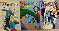 AGENT UNKNOWN run of (3) issues #1 #2 #3 (1987) Renegade Comics FINE