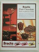 1961 Brach's pure chocolate candy taste good as it looks peanut clusters ad