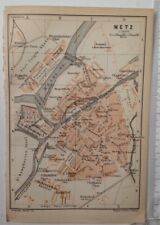Plan de Metz, Le Rhin, 1906 antique map, original, ATLAS 64
