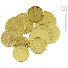 Pirate Treasure Gold Doubloons Coins Fancy Dress Prop - Pack Of 12