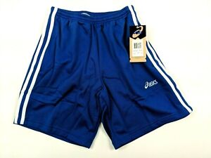 Asics Womens Victory Warm Up Shorts Easy Off Snaps Royal Blue Size XS