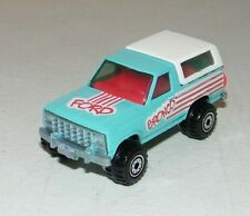 Hot Wheels Powder Blue Enamel White w/Tampos Ford Bronco 1980 Mattel Near Mint