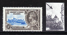 GILBERT & ELLICE 1935 1d JUBILEE 'FLAGSTAFF ON RIGHT-HAND TURRET' SG 36d MNH.