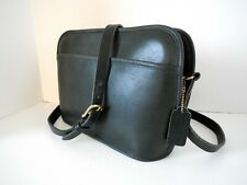 EUC VINTAGE COACH DARK GREEN LEATHER SHOULDER CROSSBODY BAG