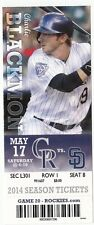 2014 COLORADO ROCKIES VS SAN DIEGO PADRES TICKET STUB 5/17 CHARLIE BLACKMON