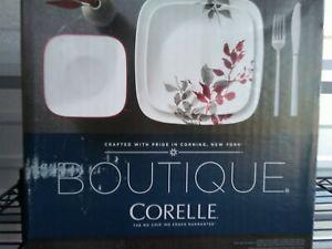 Corelle® Boutique Kyoto Leaves Square 16-Piece Dinnerware Set