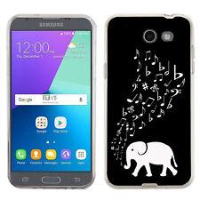 TPU Phone Case for Samsung Galaxy J3 Prime / Amp Prime 2 - Elephant Music
