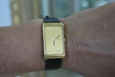 Corum 10 gram 999.9 gold ingot watch, 18k gold , original Corum band and clasp