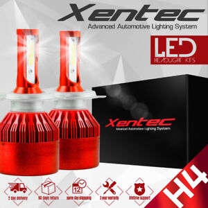 H4 9003 HB2 488W 48800LM Car LED Headlight Bulbs COB kit 6500K White New