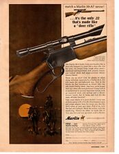 1964 Marlin Model 39-A .22 Made Like Deer Rifle Vintage Print Ad