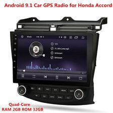 10.1'' Quad Core 2+32GB Android 9.1 Car Stereo Radio GPS For Honda Accord 03-07