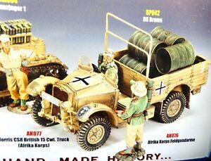 king & country AK077 54mm ww2 German Afrika Morris truck w/fig 2012 mib oop