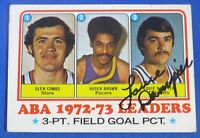 LOUIE DAMPIER HOF signed autograph auto 1973-74 Topps Leaders Kentucky Colonels